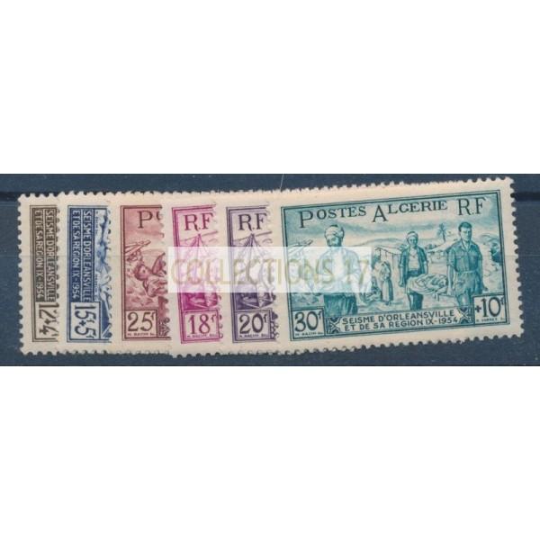 Algérie - Numéro 319 à 324 - Neuf avec Charnières