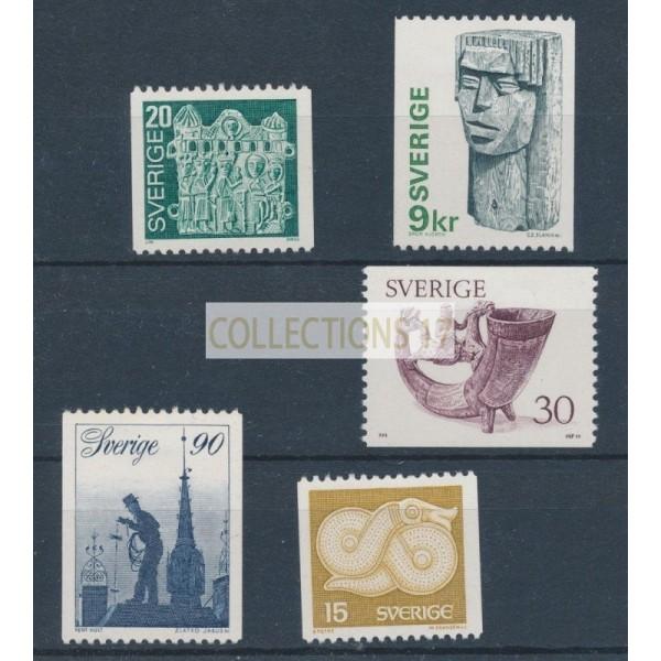 Timbre Suède - numéro 934 à 938 - Neuf sans Charnière