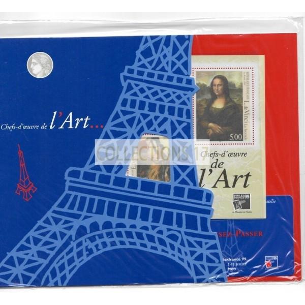 Bloc de France - Timbre Chef d'oeuvre d'art - Sous blister