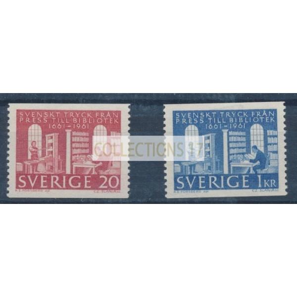 Suède - numéro 486 à 487 - Neuf avec Charnière