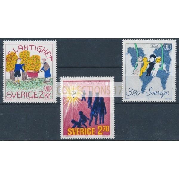 Suède - numéro 1333 à 1335 - Neuf avec Gomme