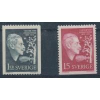 Suède - numéro 442 à 443 - Neuf avec Charnière