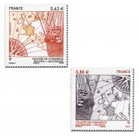 France - Numéro 4817 et 4818 (2013)  - Traités de commerce France-Danemark
