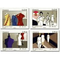 France - Numéro 4824 à 4827 (2013)  - La Mode, Singapour - France