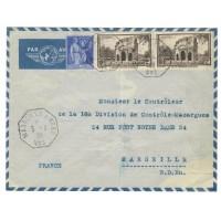 France enveloppe ancienne 1939 - numéro 389 et 368 - Oblitéré
