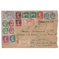 France ancienne enveloppe 1927 - numéro 145, 206 et autres - Oblitéré