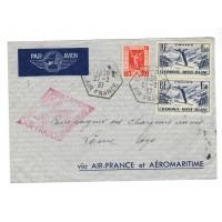 France ancienne enveloppe 1937 - Numéro 325, et 334 - Oblitéré