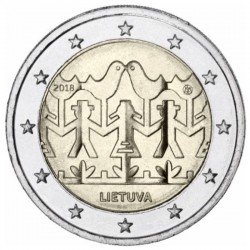 2 Euros Lituanie 2018 -...