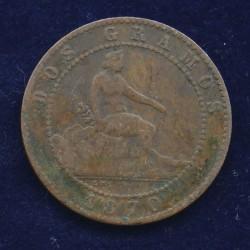 2 Gramos 1870 - Espagne
