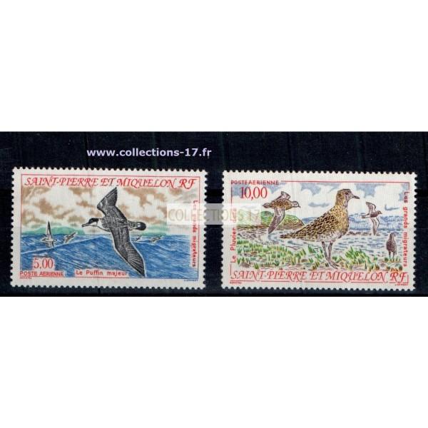 St Pierre & Miquelon - Numéro PA 72 et 73 - Neuf sans charnières