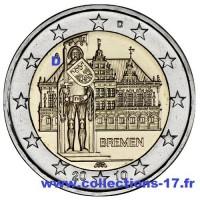 """2 €uros Allemagne 2010 """"D"""" (UNC Sortie de Rouleau)"""