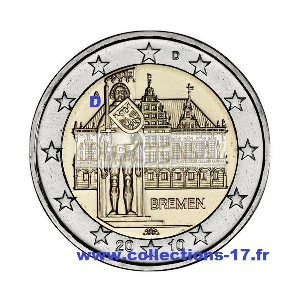 """2 €uros Allemagne 2010 """"D"""""""