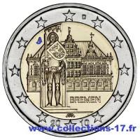 """2 €uros Allemagne 2010 """"J"""" (UNC Sortie de Rouleau)"""