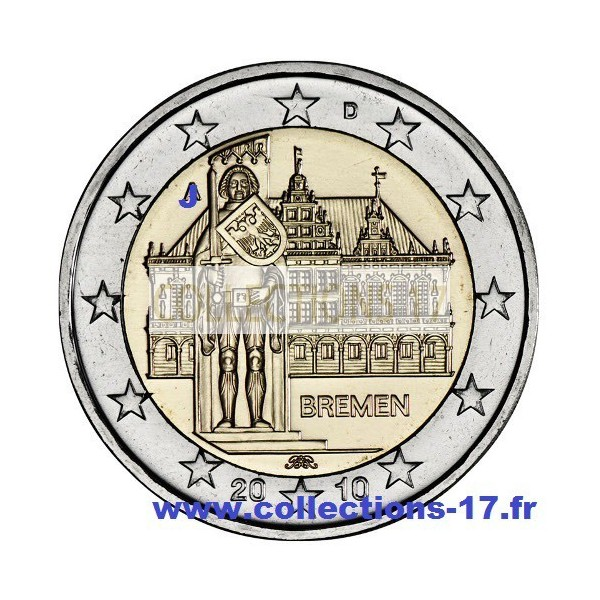 """2 €uros Allemagne 2010 """"J"""""""