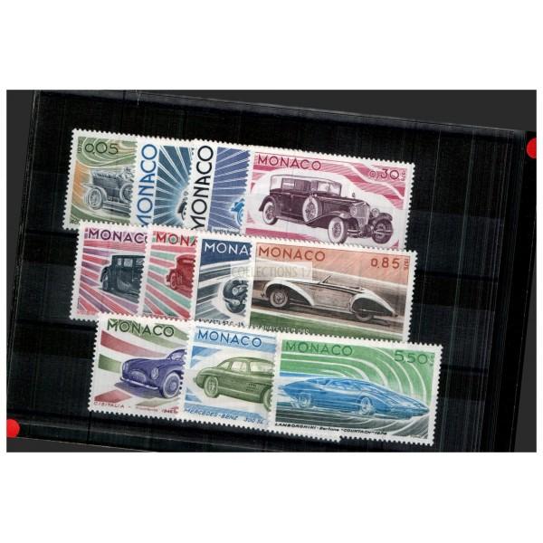 Monaco - Numéro 1018 à 1028 - neuf avec charnière