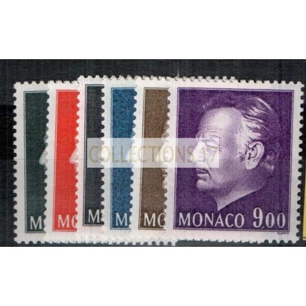Monaco - Numéro 1141 à 1146 - neuf avec charnière