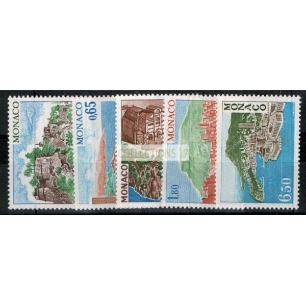 Monaco - Numéro 1147 à 1151 - neuf avec charnière