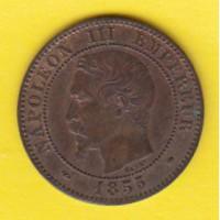 2 Centimes Napoléon III - Tête nue - 1855 MA - (T.Belle Qualité)