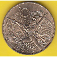 10 Francs François Rude - 1984