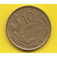 10 Francs Guiraud 1958