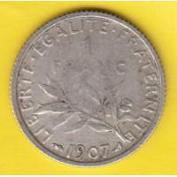 1 Franc Semeuse Argent 1907