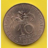 10 Francs Conquète de l'espace - 1983 Tranche B