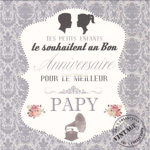 Tes Petits Enfants, te souhaitent un Bon Anniversaire Papy