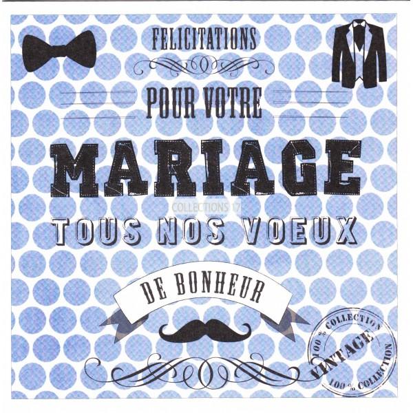 Félicitations -- Pour votre Mariage --