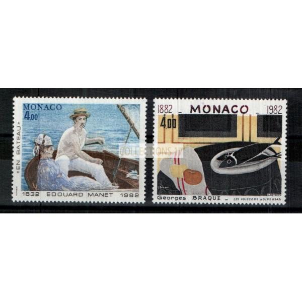 Monaco - Numéro 1347 et 1348 - Neuf sans charnière