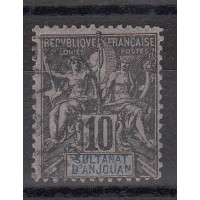 Timbres du Sultanat d'Anjouan - Numéro 5 - oblitéré
