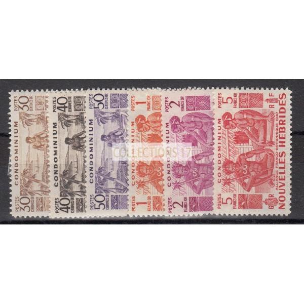 Timbres de Nouvelles Hebrides - Numéro 149 à 154 - neuf avec charnière