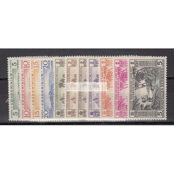 Timbres de Nouvelles Hebrides - Numéro 175 à 180 - neuf avec charnière