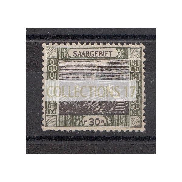 Timbres de Sarre - numéro 57 a - Neuf avec charnière