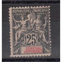 Timbres du Sénégal - numéro 15 - neuf avec charnière