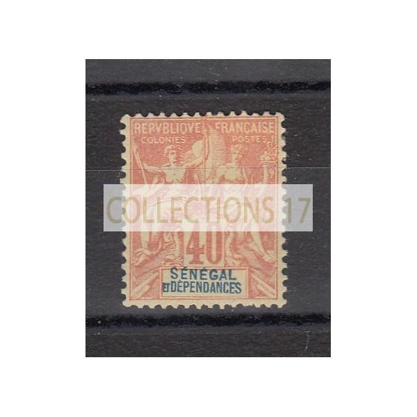 Timbres du Sénégal - numéro 17 - neuf avec charnière