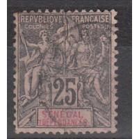 Timbres du Senegal - numéro 15 - oblitéré