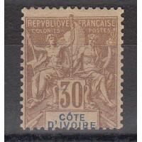 Cote d'Ivoire - Numéro 9  - Neuf avec charnière