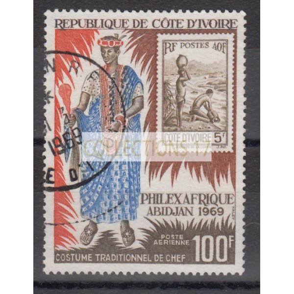 Cote d'Ivoire - numéro  PA 43 - oblitéré