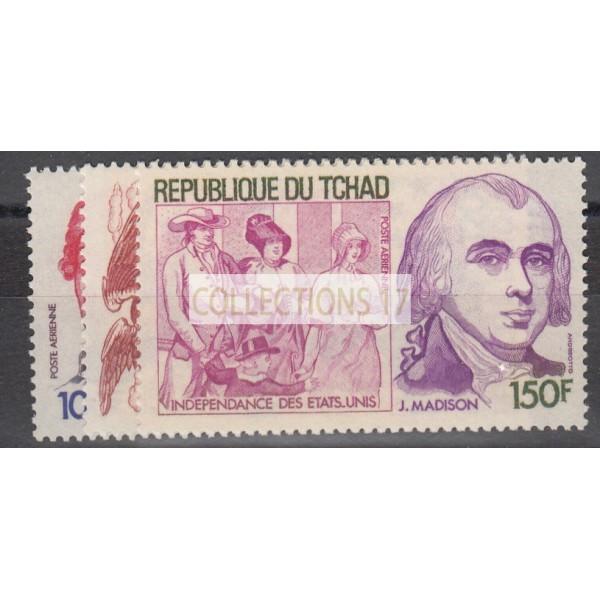 Tchad - numéro 197 à 199 - neuf sans charnière