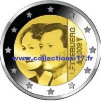 2 €uros Luxembourg 2009 (UNC Sortie de Rouleau)