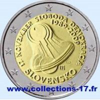 2 €uros Slovaquie 2009 (UNC Sortie de Rouleau)