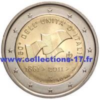 2 €uros Italie 2011 (UNC Sortie de Rouleau)