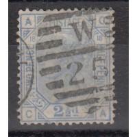 Grande Bretagne - Numéro 57 planche 18 - Oblitéré