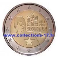 2 €uros Slovénie 2011 (UNC Sortie de Rouleau)