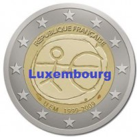 2 €uros 2009 UEM - EMU Luxembourg (UNC Sortie de Rouleau)