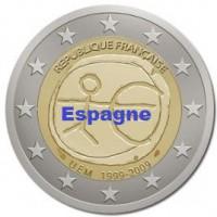 2 €uros 2009 UEM - EMU Espagne (UNC Sortie de Rouleau)