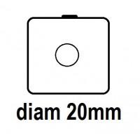 Carton - diam 20.0mm - à Agrafer
