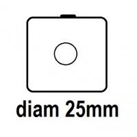 Carton - diam 25.0mm - à Agrafer