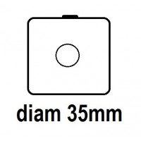 Carton - diam 35.0mm - à Agrafer