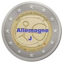 2 €uros 2009 UEM - EMU Allemagne J (UNC Sortie de Rouleau)